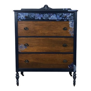 1940s Vintage Four Drawer Tall Boy For Sale