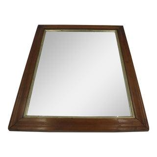 Bird's Eye Maple Framed Mirror For Sale
