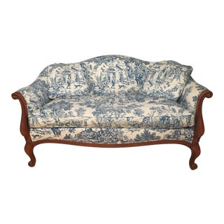 Hickory Chair French Traditional Upholstered Loveseat For Sale