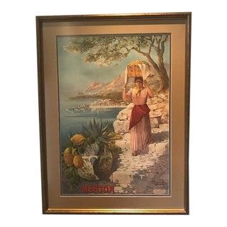 """Le Pont St. Louis"" Italian Framed Poster For Sale"