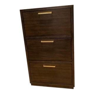 Hollywood Regency Fine Furniture Shoe Cabinet For Sale