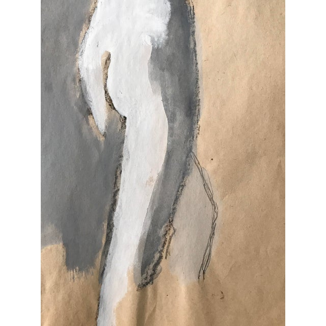 """1960s Bay Area Figurative Painting Female Nude """"Leg Stretch"""" For Sale - Image 4 of 5"""