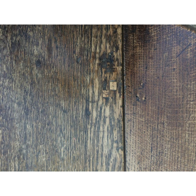 Brown Antique 19th C. English Oak Drop-leaf Gate Leg Table For Sale - Image 8 of 10