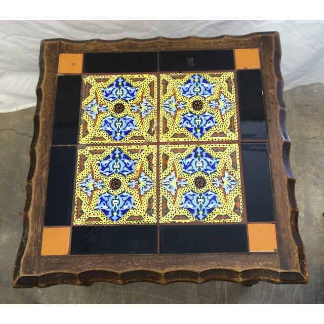 Antique Monterey Tile Table - Image 3 of 6