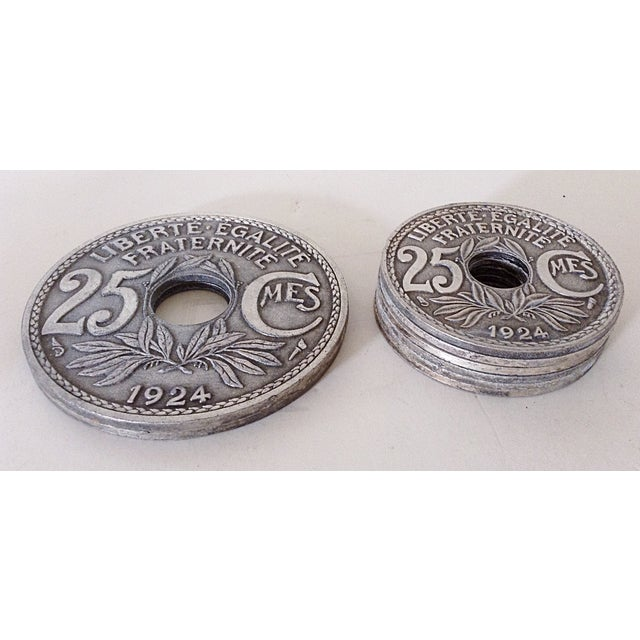 French Coin Beverage Coasters - Set of 8 - Image 3 of 4