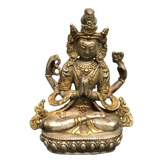 Bronze Chinese Art Lucky Charm Quanyin Sculpture For Sale