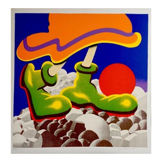"""1977 """"Girl With Beachball"""" Pop Art Style Numbered Silkscreen by Jack Brusca For Sale"""