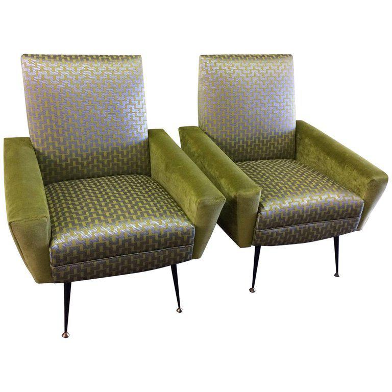 Mid Century Italian Chairs By Gianfranco Frattini. New Custom Made  Upholstery.