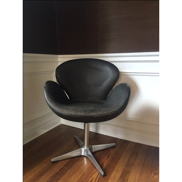 Mid Century Style Leather Chair - Image 2 of 5