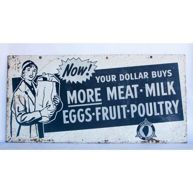 XL 1950's Metal advertising sign - Image 2 of 2