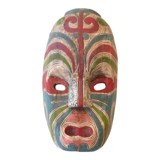 Vintage New Zealand Maori Mask For Sale