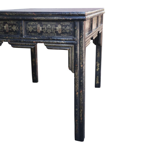 Antique Chinese Black Lacquer Table For Sale In Houston - Image 6 of 11