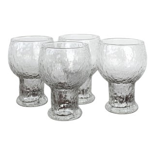 Littaler - Finland Wine Water Goblets Glasses- Set of 4 For Sale