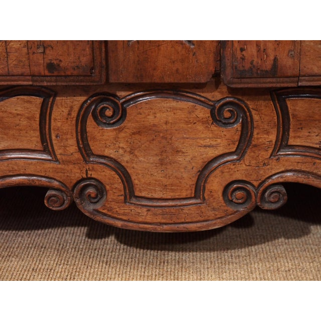 Early 18th century French Carved Walnut Buffet For Sale - Image 10 of 11