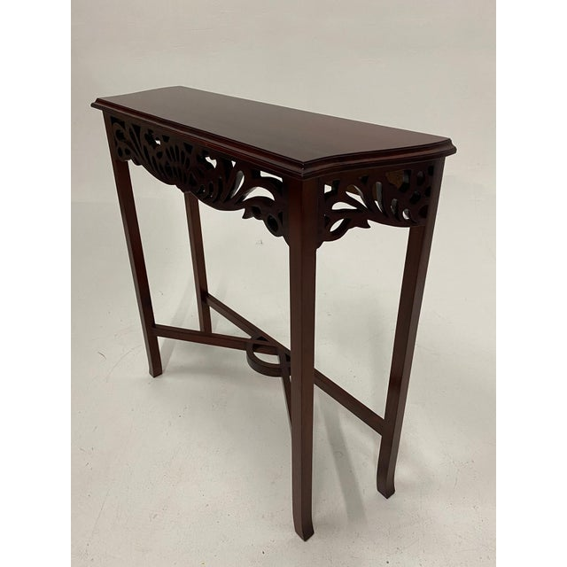 Carved Mahognay Console Table For Sale - Image 11 of 12