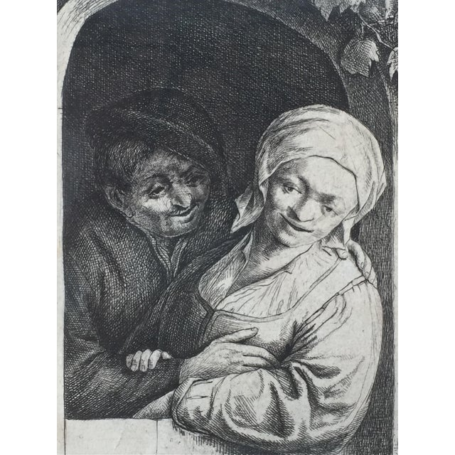 17th Century Antique Dutch 'Village Romance' Etching 1667 by Adrian Van Ostade For Sale - Image 5 of 5