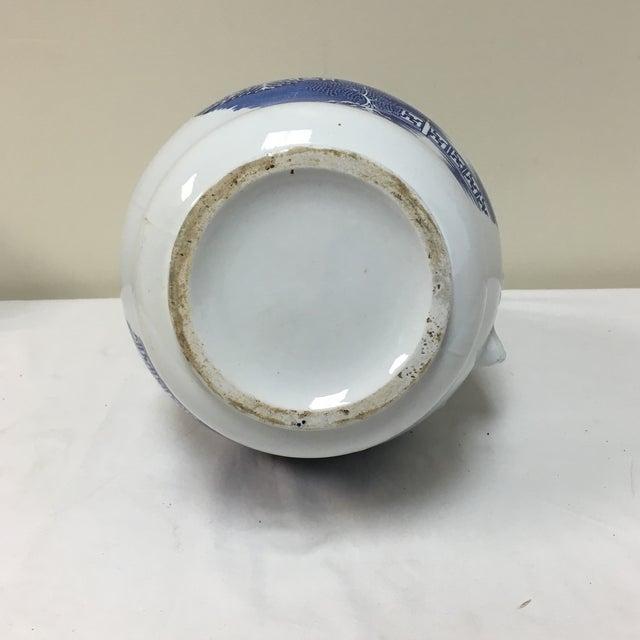 Vintage Blue Willow Vase For Sale - Image 9 of 9