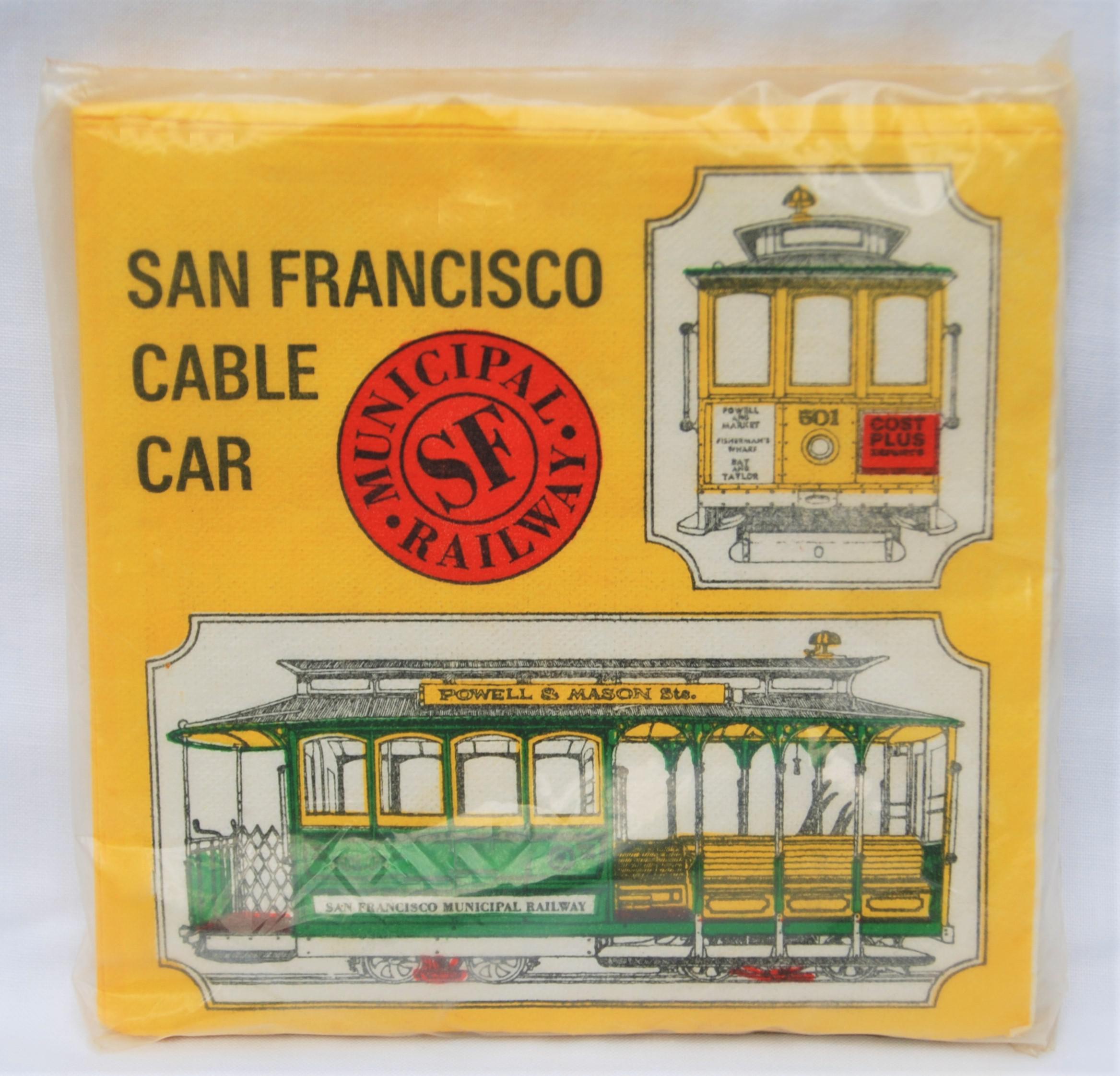 Vintage San Francisco Cable Car Paper Napkins   Set Of 24   Image 6 Of 6