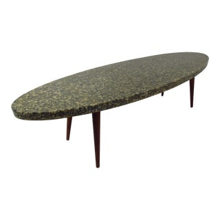 Vintage Modern Oval Coffee Table For Sale
