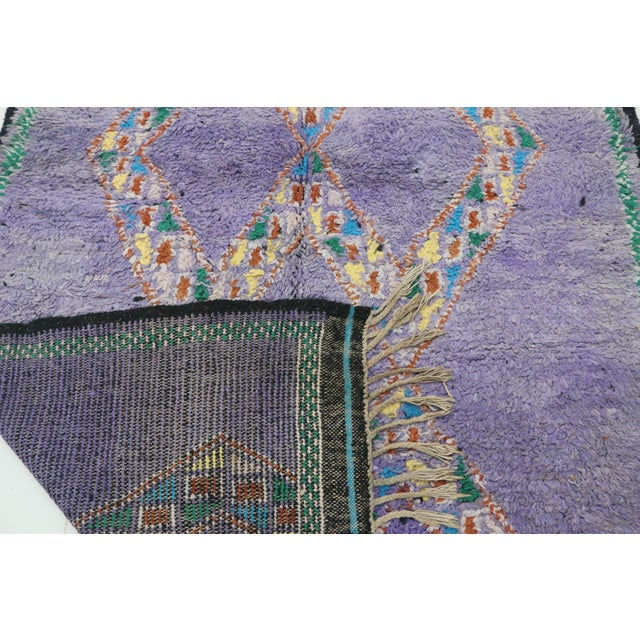 """1970s Boujad Vintage Moroccan Rug, 4'11"""" X 6'2"""" Feet For Sale - Image 5 of 6"""