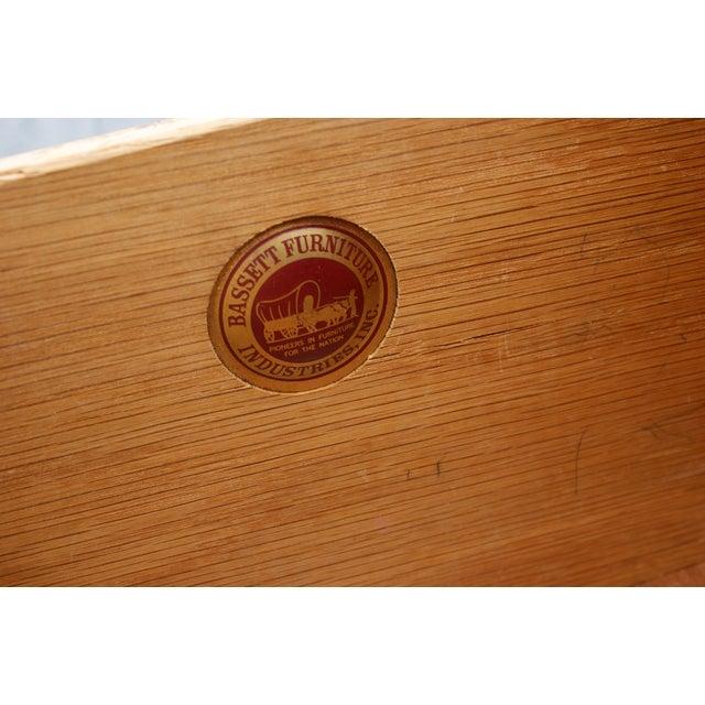 Bassett Furniture Bassett Mid Century Modern Geometric Credenza For Sale - Image 4 of 4