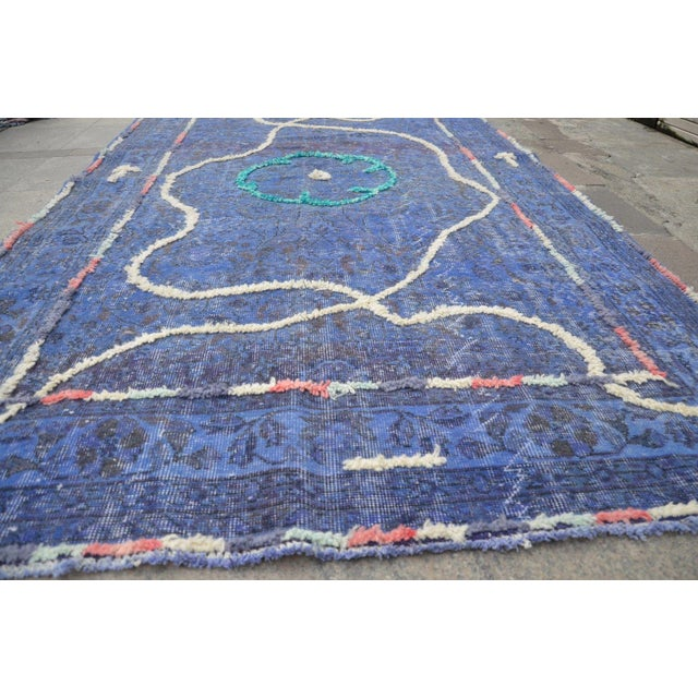 "Contemporary Contemporary Turkish Handmade Rug - 9'6"" X 5'4"" For Sale - Image 3 of 6"