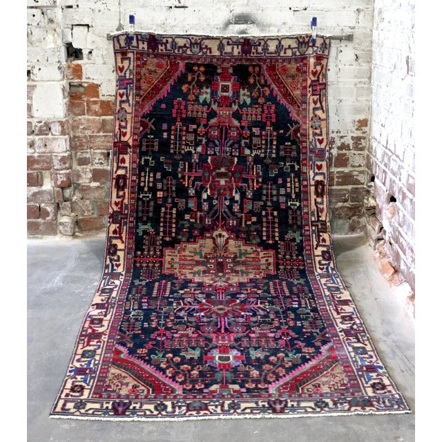 """Midnight in the Garden Persian Rug - 4'7"""" x 10'8"""" - Image 2 of 7"""