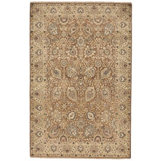 Indian Hand Knotted Rug- 4′6″ × 6′8″ For Sale