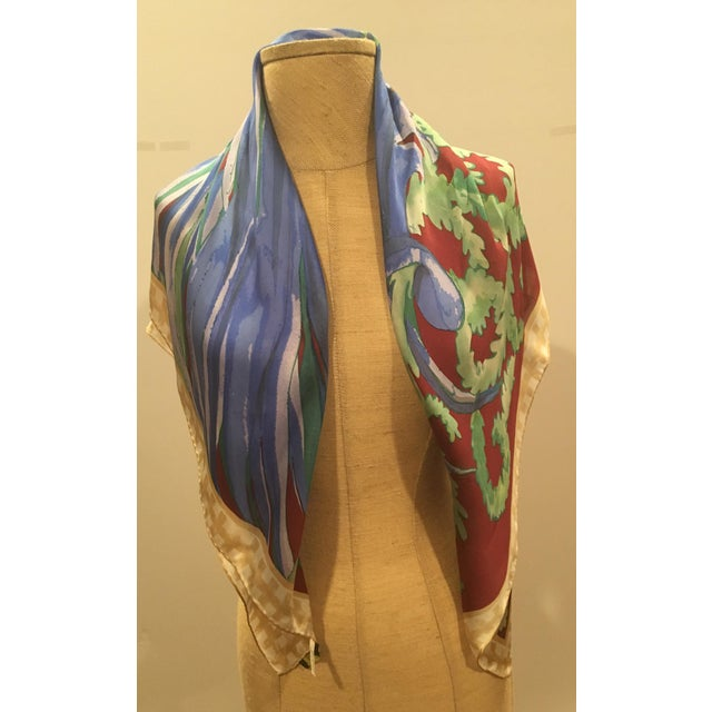 This beautiful Pucci has got a different feel from what we typically think of as Pucci. The scarf is silk chiffon with an...