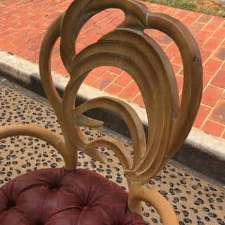 Tufted Wooden Faux Bois Chairs - a Pair Preview
