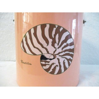 Vintage Nautilus Shell Blush Pink Ice Bucket Preview