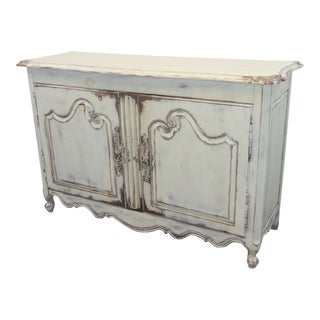 Louis XV Custom Paint Distressed Sideboard For Sale