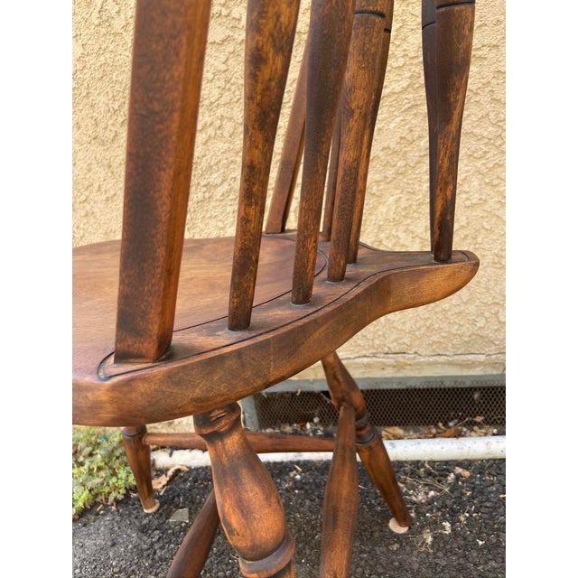 Antique Windsor Side Chair For Sale In Los Angeles - Image 6 of 12