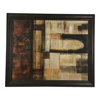 Large Abstract Oil Painting on Canvas by Hilburn For Sale