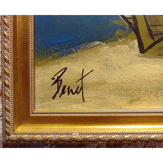 1960s Benet -Fishing Boat Ashore - 1960s French Oil Painting For Sale - Image 5 of 7
