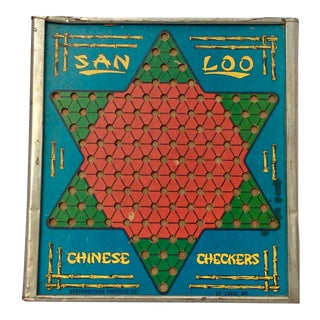 Mid Century San Loo Chinese Checker Game Board For Sale