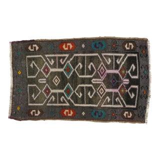 1970s Leon Banilivi Vintage Anatolian Oushak Rug - 1′8″ × 3′ For Sale