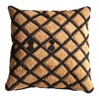 Raffia Kuba Cloth Pillow