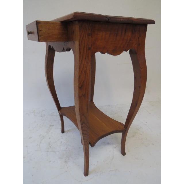 Antique Oak Side Table - Image 5 of 7