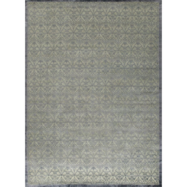2010s Stark Studio Rugs Contemporary Oriental Wool and Silk Rug - 10' X 14' For Sale - Image 5 of 5