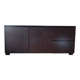 Contemporary Crate And Barrel Brown Wooden Credenza For Sale