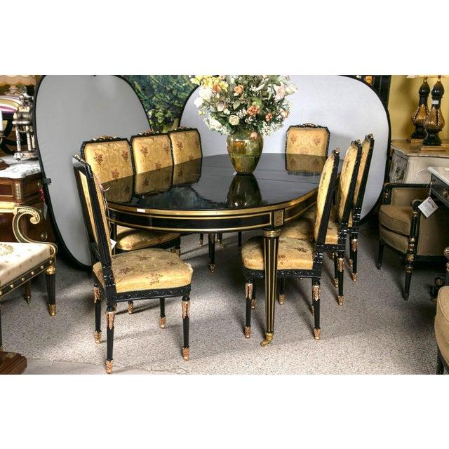 Louis XVI Style Ebonized Dining Table by Jansen - Image 2 of 8