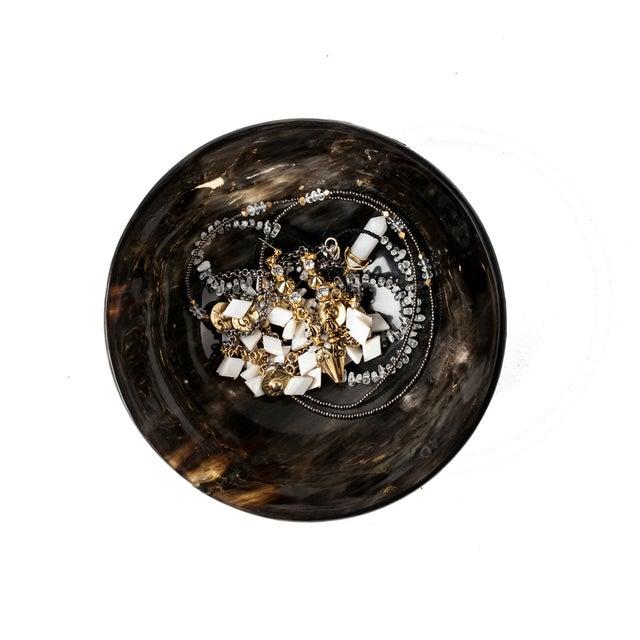Round Buffalo Horn Jewelry Dish - Image 2 of 2