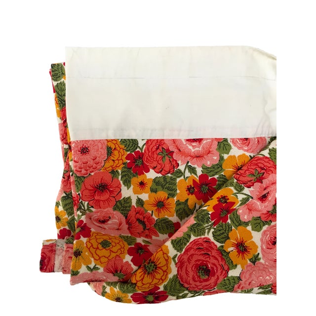 Vintage 1960s Pink Floral Curtain - Image 6 of 6