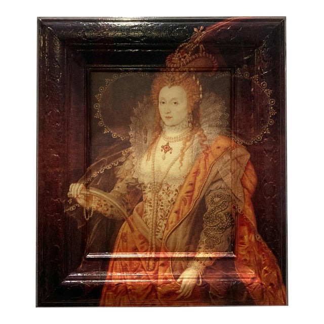 Elizabeth Runneth Over - Framed Artwork Reinterpreted by Dwm   Maloos For Sale