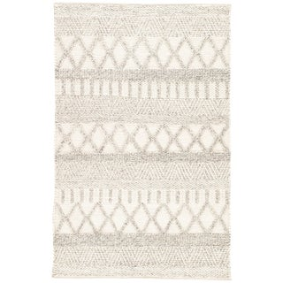 Jaipur Living Sandhurst Handmade Geometric Gray & White Area Rug - 8' X 10' For Sale