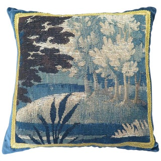 18th Century Maison Maison Verdure Tapestry Pillow For Sale