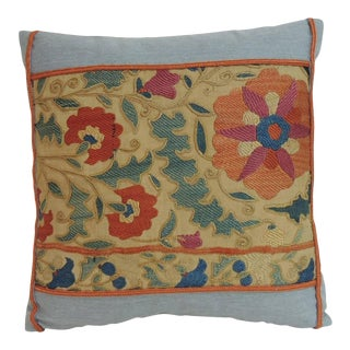 19th Century, Embroidery Suzani Petite Decorative Pillow