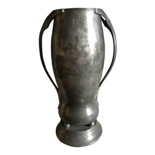 Early 20th Century Antique Pewter Vase For Sale