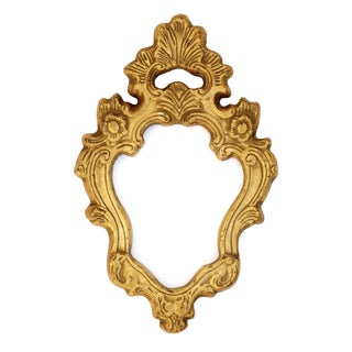 Antique Gilt Florentine Plaster Ornate Frame For Sale